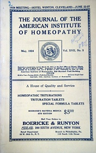 The Journal of the American Institute of Homeopathy, may 1924