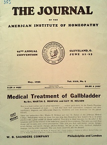 The Journal of the American Institute of Homeopathy, may 1936