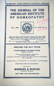 The Journal of the American Institute of Homeopathy, june 1924
