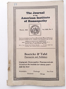 The Journal of the American Institute of Homeopathy, march 1928