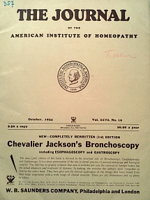The Journal of the American Institute of Homeopathy, october 1934