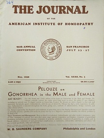 The Journal of the American Institute of Homeopathy, may 1939