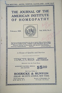 The Journal of the American Institute of Homeopathy, february 1924
