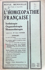 L´Homoeopathie francaise 1955 mars 3