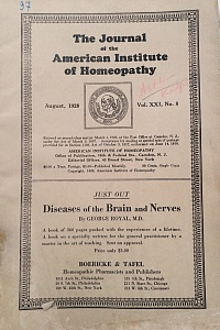 The Journal of the American Institute of Homeopathy, august 1928