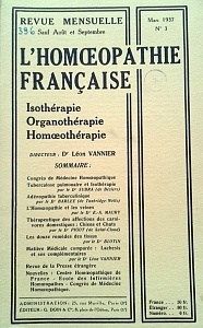 L´Homoeopathie francaise 1937 mars 3