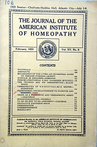 The Journal of the American Institute of Homeopathy, february 1923