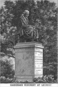 Торжественное открытие грандиозного памятника Ганеману в Лейпциге