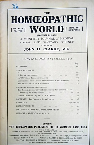 The Homoeopathic World, september,1931